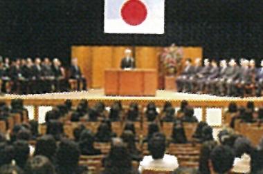 画像:入学式の様子