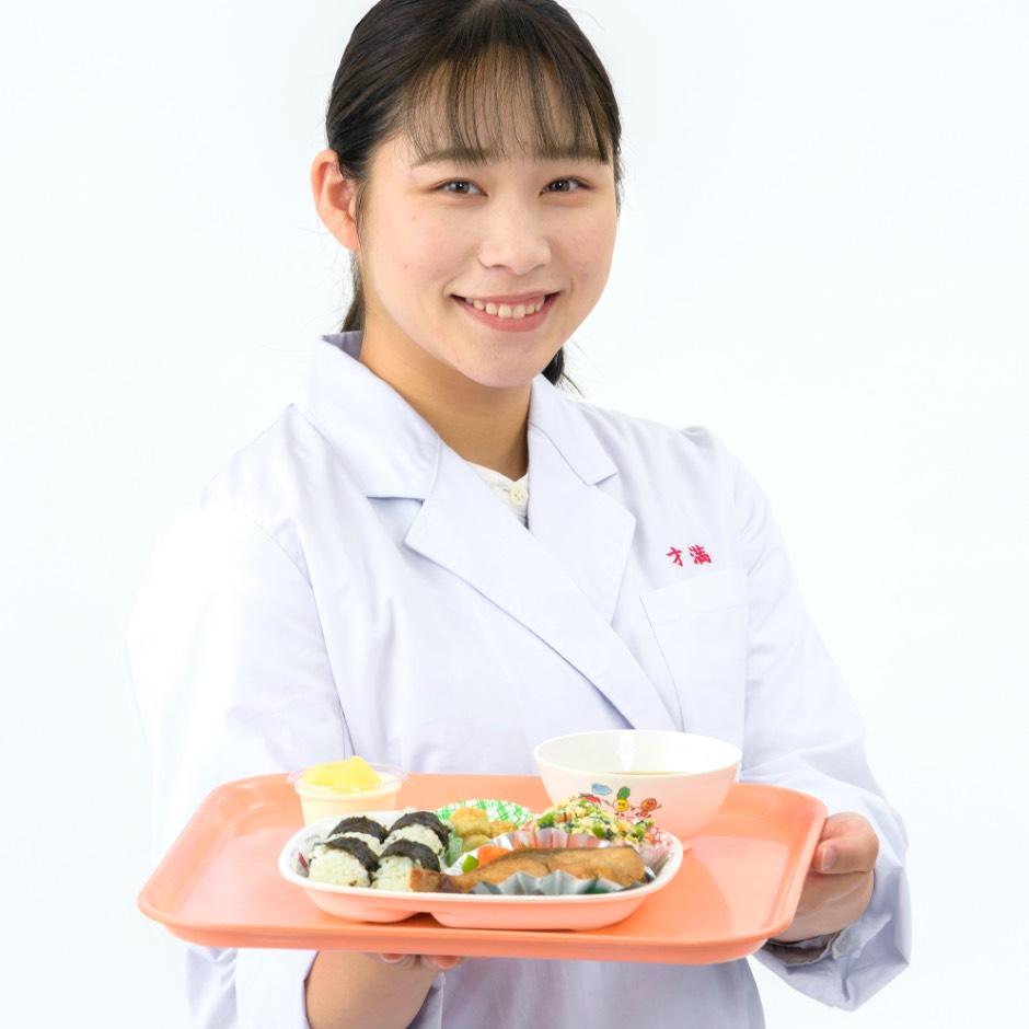 画像:食物栄養学科の学生